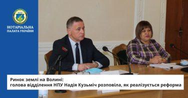 Ринок землі на Волині: голова відділення НПУ Надія Кузьміч розповіла, як реалізується реформа